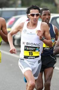 Migidio Bourifa alla Maratona di Roma 2011