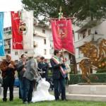 """PONTASSIEVE: Inaugurato con il corteo del 25 Aprile il """"Pegaso"""" di Enzo Pazzagli"""