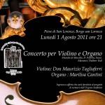 BORGO SAN LORENZO: In Pieve due interessanti concerti ed anche il Pievano….imbraccia il violino!