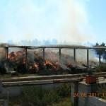 SCARPERIA: Stamani incendio visibile in tutto il Mugello alla Casa Bianca di Sant'Agata