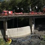 MARRADI: pulizia sbarramento fiume Lamone, le immagini dell'intervento