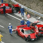 Giappone: maxi incidente tra Ferrari Lamborghini e Mercedes. Una carambola da oltre 3 milioni di dollari
