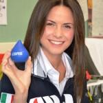 """AVIS: Eleonora Cortini, professoressa de """"L'eredità"""", testimonial della campagna per la donazione del sangue"""