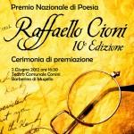 """Barberino: 400 iscritti da tutta Italia al 10° Premio nazionale di Poesia """"Raffaello Cioni"""""""