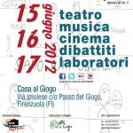 """FESTIVAL: Dal 15 al 17 giugno debutta il """"Casa al Giogo Festival"""""""