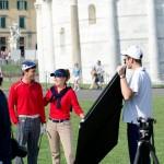 PISA: Piazza dei Miracoli gioca a diventare un campo da Golf. Gli scatti dal backstage