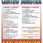 SAN GODENZO: Fine settimana dedicato alla Festa del Centrosinistra