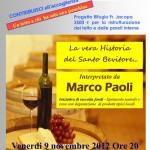SAN FRANCESCO: Una cena con spettacolo di Marco Paoli per ristrutturare il rifugio Frate Jacopa