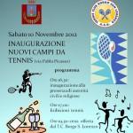 BORGO SAN LORENZO: Sabato si inaugurano i due nuovi campi del Tennis Club