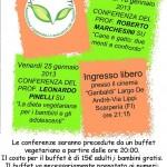 """SCARPERIA: L'associazione """"Vivi e Vegeti"""" si presenta con una conferenza e un buffet rigorosamente vegetariano"""