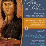 BORGO SAN LORENZO: Il primo luglio ostensione della Madonna di Giotto e concerto alla presenza del Cardinal Betori