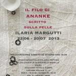 """BARBERINO: In arrivo la personale di Ilaria Margutti """"Il filo di Ananke. Scritto sulla pelle"""""""