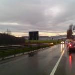 CAFAGGIOLO: Mugello tagliato in due per un incidente tra due camion