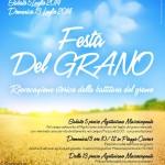 """Quest'anno doppio appuntamento per la """"Festa del Grano"""" a Barberino"""