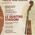 """BORGO SAN LORENZO: """"Le quattro stagioni"""" al Giotto in un mix di arti. Aperta la prevendita"""