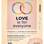 """BORGO SAN LORENZO: """"Love is for everyone"""" venerdì al Centro Incontri"""