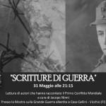 Scritture di guerra  Mostra Storico/Fotografica e di Reperti della Grande Guerra