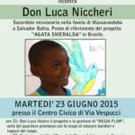 Barberino M.llo – Una serata tutta dedicata a Don Luca Niccheri e al suo progetto missionario