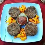 Medaglioni di melanzana con salsa di pomodori secchi