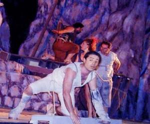 """La foto è dell' """"Asino d'oro"""" di Apuleio Con Marco Paoli e Orso Maria Guerrini produzione Teatro San Leonardo 2000."""
