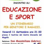 Centro Giovanile Mugello  – Educazione e sport un itinerario per genitori e ragazzi