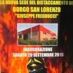 Borgo San Lorenzo  – Inaugurazione nuova sede dei Vigili del Fuoco