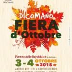 Dicomano – Torna la fiera di ottobre – Prodotti locali degustazioni e vendita