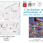 """Firenze – """"L'inclusione sociale attraverso lo sport. Carta etica, esperienze e prospettive"""""""