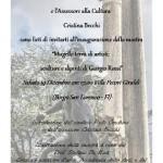 """Borgo San Lorenzo – """"Mugello terra di artisti: sculture e dipinti di Giorgio Rossi"""""""