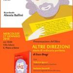 """A San Piero a Sieve la presentazione del libro """"Altre Direzioni. Storie di ordinaria periferia"""" con un pensiero a Alessia Ballini"""