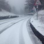 Giornata di neve sulle strade del Mugello – Passo della Futa