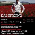 """BARBERINO DI MUGELLO – Al Teatro Corsini """"Dal Ritorno"""" un film di Giovanni Cioni"""