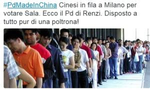 cinesi in fila primarie