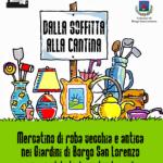"""BORGO SAN LORENZO – Torna il mercatino """"Dalla soffitta alla cantina"""""""