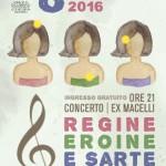 """DICOMANO festeggia la festa della donna con il concerto """"REGINE EROINE E SARTE"""""""