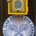 BORGO SAN LORENZO – Anche al Tennis Club installato un defibrillatore