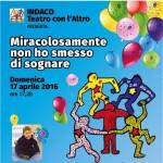 """Vicchio – """"Miracolosamente non ho smesso di sognare"""" in favore del """"Progetto Casa Accoglienza Tommasino"""""""