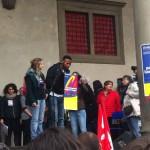 """Borgo San Lorenzo – Presidio Libera """"Ilaria Alpi e Miran Hrovatin"""" – Mugello alla Giornata per le vittime di mafia con un gruppo di rifugiati."""