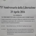 Borgo San Lorenzo – Le celebrazioni per il 71° anniversario della Liberazione
