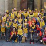 Marradi – Tante casacche gialle a pulire il paese.