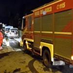 San Piero a Sieve – Incendio di un garage seminterrato