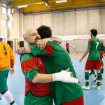 Andrea Bearzi con la maglia arancione del Futsal Pistoia