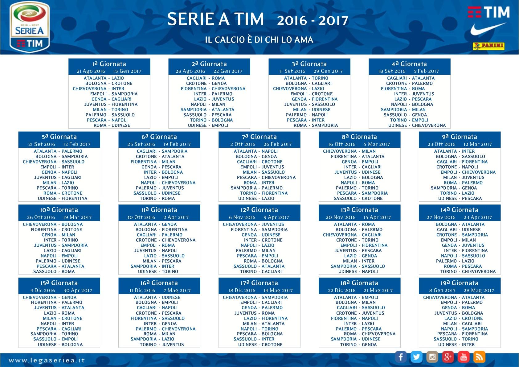 Calendario Calcio Bologna.Calcio Calendario Serie A Si Parte Con Il Botto Tutto