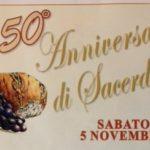La famiglia francescana e il Villaggio San Francesco, festeggiano Fr. Fosco Ceccherini per i suoi 50 anni di sacerdozio.