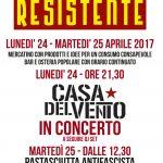 """De giorni di FESTA RESISTENTE 24 e 25 aprile a """"Le Belle Idee"""" di Scarperia"""
