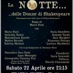 """Vicchio Teatro Giotto – In scena """"LA NOTTE DELLE DONNE DI SHAKESPEARE"""" con la regia dei Marco Paoli"""