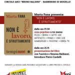 """Libri – Marta Fana presenta """"Non è lavoro, è sfruttamento"""" al circolo ARCI di Barberino di Mugello"""